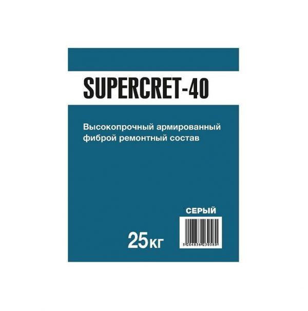 Тиксотропный ремонтный состав SUPERCRET-40 FAST